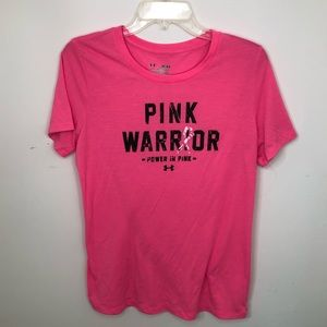 Under Armour Pink Shirt Size Medium Breast Cancer